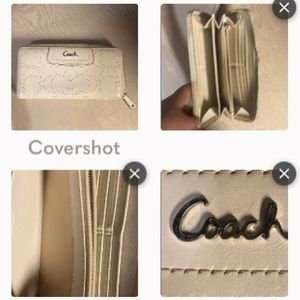 Coach Cream Wallet GUC 6pocket